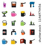 color and black flat icon set   ... | Shutterstock .eps vector #1146974456