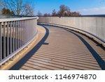pedestrian overpass with metal... | Shutterstock . vector #1146974870