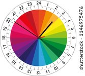 24 hours clock dial with color... | Shutterstock .eps vector #1146975476