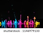 abstract sculptures of colorful ...   Shutterstock . vector #1146979133