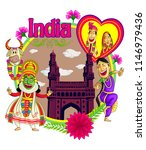 indian culture cartoon... | Shutterstock .eps vector #1146979436