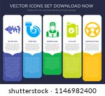 5 vector icons such as car... | Shutterstock .eps vector #1146982400
