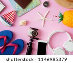top view travel concept with... | Shutterstock . vector #1146985379