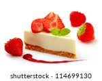 strawberry cheese cake | Shutterstock . vector #114699130