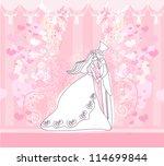 wedding dancing couple...   Shutterstock .eps vector #114699844