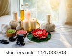 spa and massage elements  aroma ... | Shutterstock . vector #1147000703