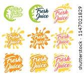 juice fruit logo set. vector...   Shutterstock .eps vector #1147021829