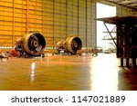 two jet engine remove from... | Shutterstock . vector #1147021889