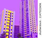 hotel.  palms. minimal.... | Shutterstock . vector #1147022606