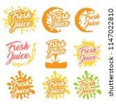 juice fruit logo set. vector...   Shutterstock .eps vector #1147022810