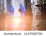 chemical spill pollution...   Shutterstock . vector #1147030730