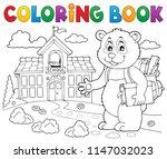 coloring book school panda...   Shutterstock .eps vector #1147032023