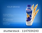 vector ads of natural drinking...   Shutterstock .eps vector #1147034243