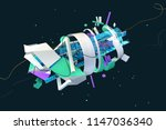 abstract stylish 3d composition ... | Shutterstock . vector #1147036340