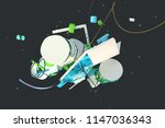 abstract stylish 3d composition ... | Shutterstock . vector #1147036343