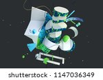 abstract stylish 3d composition ... | Shutterstock . vector #1147036349