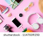 top view travel concept with... | Shutterstock . vector #1147039250