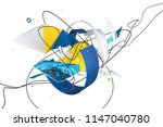 abstract stylish 3d composition ... | Shutterstock . vector #1147040780