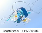 abstract stylish 3d composition ... | Shutterstock . vector #1147040783