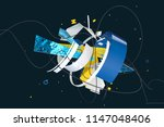 abstract stylish 3d composition ... | Shutterstock . vector #1147048406