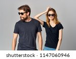 stylish young couple wearing... | Shutterstock . vector #1147060946