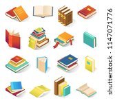 book icon isometric set.... | Shutterstock .eps vector #1147071776