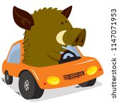 cute boars or warthog character.... | Shutterstock .eps vector #1147071953