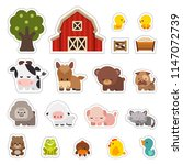 farm animals vector... | Shutterstock .eps vector #1147072739