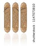 golden door handle isolated on...   Shutterstock . vector #1147073810