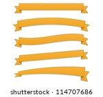 orange retro ribbons | Shutterstock .eps vector #114707686