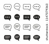 chat and speech bubble iicon...