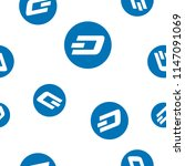 dash cryptocurrency coin sign...   Shutterstock .eps vector #1147091069