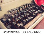 Close Up Vintage Typewriter...