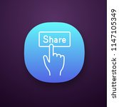 share button app icon. ui ux...