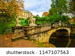 autumn park bridge in pavlovsk  ... | Shutterstock . vector #1147107563