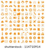 vector illustration of various... | Shutterstock .eps vector #114710914