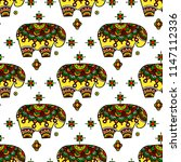 tribal vector seamless pattern... | Shutterstock .eps vector #1147112336