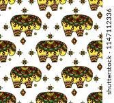 tribal vector seamless pattern... | Shutterstock .eps vector #1147112336