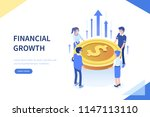 financial growth concept. can... | Shutterstock .eps vector #1147113110
