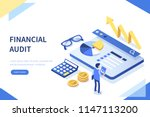 financial audit business... | Shutterstock .eps vector #1147113200