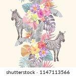tropical seamless vertical... | Shutterstock .eps vector #1147113566