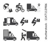 shipping and delivery service... | Shutterstock .eps vector #1147113986