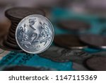 indian currency coines of... | Shutterstock . vector #1147115369