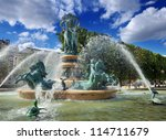 the fountain of the observatory ...   Shutterstock . vector #114711679