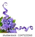 bouquet of blue hyacinth...   Shutterstock . vector #1147122263