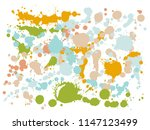 watercolor stains grunge... | Shutterstock .eps vector #1147123499