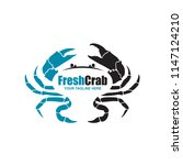seafood image with crab... | Shutterstock .eps vector #1147124210