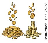 finance  money set. sketch of... | Shutterstock .eps vector #1147126679