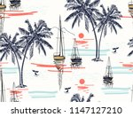 beautiful tropical vector... | Shutterstock .eps vector #1147127210