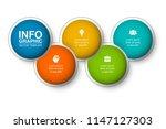 vector infographic template for ... | Shutterstock .eps vector #1147127303